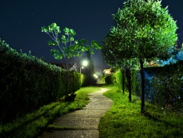 Khezer Shahr Garden at  Night