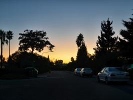 Crescent at sunset