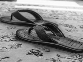 Slippers on carpet