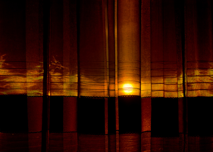 Sunset behind the curtain