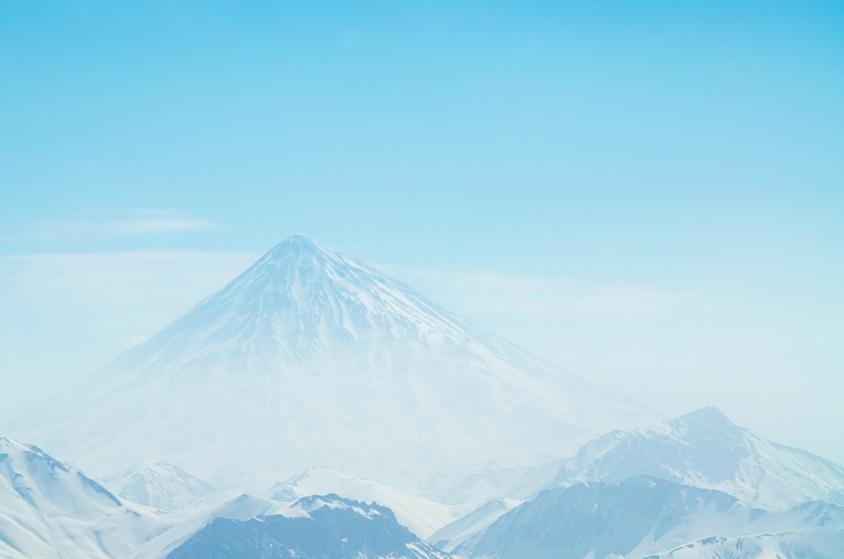 Damavand, Photo taken from Dizin Ski Peak