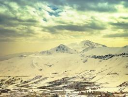 Mosha village in winter