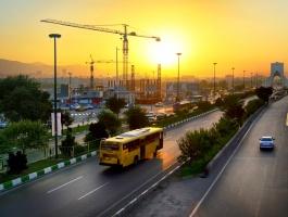 Ways leading to Azadi (freedom) square