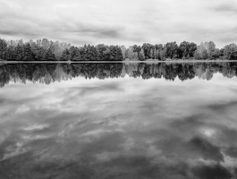 clouds reflection in water